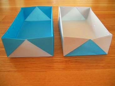 ハート 折り紙 折り紙箱折り方長方形 : studental.net